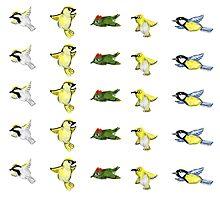 Tiny birds print by Xantippe