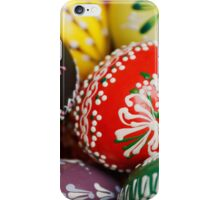 Painted Easter Eggs - Red Green Yellow Blue iPhone Case/Skin