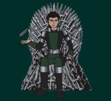 Kuvira on the Iron Throne  by lokibending