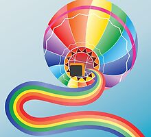 Air balloon with rainbow 2 by AnnArtshock