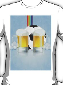 Beer Glass and Soccer Ball 3 T-Shirt