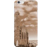 rock of cashel in sepia iPhone Case/Skin