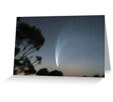 Comet McNaught from Mt Macedon Greeting Card