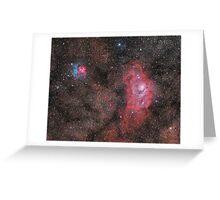 Lagoon and Trifid Nebula Greeting Card
