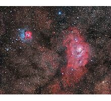 Lagoon and Trifid Nebula Photographic Print