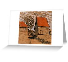 Wind Schuppen Greeting Card