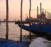 Gondolas of Piazza San Marco by Macaco
