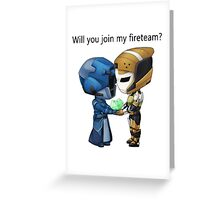 Valentine's: Fireteam Greeting Card
