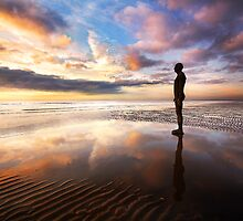 Another Place, Crosby Beach, Liverpool, England by dotcomjohnny