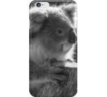 Young Koala BW iPhone Case/Skin
