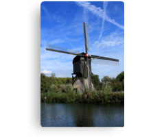 Windmill Near Utrecht The Netherlands Canvas Print