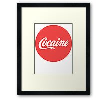 Cocaine (Coca Cola)  Framed Print