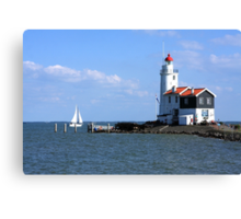 Sailing Around The Lighthouse Canvas Print