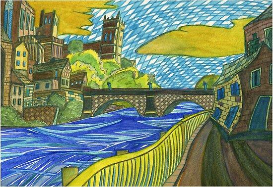 118 - DURHAM DESIGN 1 - DAVE EDWARDS - WATERCOLOUR - SEP 2003 by BLYTHART