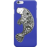 Manatee blue iPhone Case/Skin