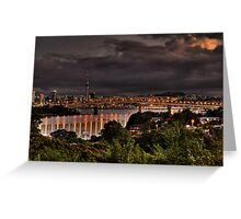 Auckland City  Sunset Greeting Card