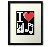 I Heart Rock n Roll (Inspired By Joan Jett) Framed Print