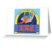 Seabase Alpha The Living Seas Greeting Card
