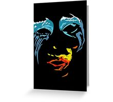 Lady Gaga - Red yellow and blue Greeting Card