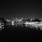 MCG & Yarra (Black & White)  by melbourne