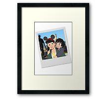 Hiro and Tadashi at Disneyland Framed Print