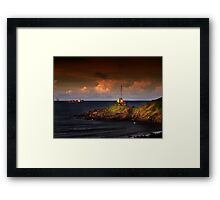 The Point Light Swimmers Framed Print