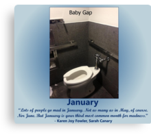 Toilets of New York 2015 January - Baby Gap Canvas Print