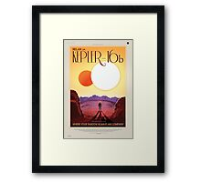 Relax on Kepler-16b - Where your shadow always has company Framed Print