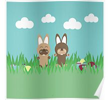 Rabbits and eggs Poster