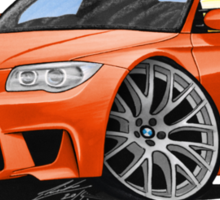 BMW 1M Coupe Orange (NoPlate) Sticker