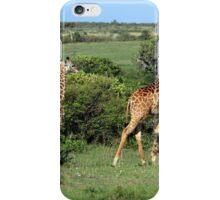 Masai Mara Giraffe Family  iPhone Case/Skin