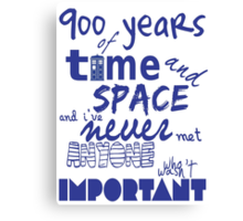 doctor who - 900 years of time and space Canvas Print