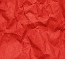 Wrinkled Crumpled Paper Texture - Red  by sitnica