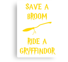 Harry Potter Ride a Gryffindor Canvas Print