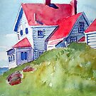 Monhegan Light, Close Up by brettonarts