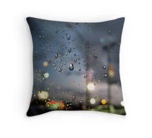 Rainy Night At A Stoplight Throw Pillow