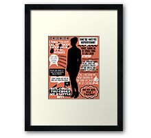 Archer - Cheryl Tunt Quotes Framed Print