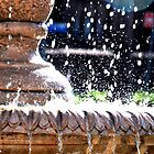 Fountain - Water drops.... by HEIDI  HORVATH