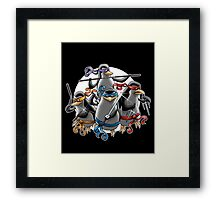 Teenage Mutants Paramilitary Penguins Framed Print