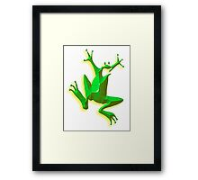 Jumping Green Frog, Jumping Jehoshaphat! Framed Print