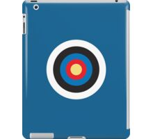 BULLS EYE, Right on target, small, on Blue iPad Case/Skin