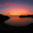 Lulworth Cove - Fire Writing In The Sky.  by delros