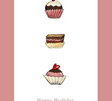 Happy Birthday with a touch of pink by Valeria  Franco