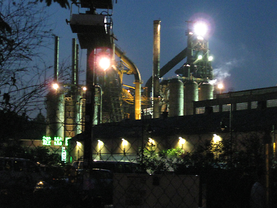 The Bethlehem Steel Mill During the Filming of Transformers 2 by Susie Warner