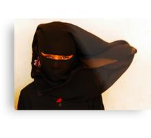 African Ninja girl Metal Print
