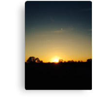 Sunset to Outer Space Canvas Print