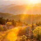 North Carolina Blue Ridge Southern Appalachian Mountain Autumn Sunshine by MarkVanDyke