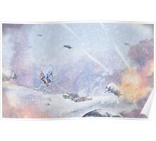 Burning Snow Poster