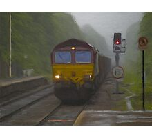 Goods Train arriving at Hebden Bridge Photographic Print