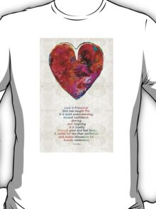 Red Heart Art - Love Is - By Sharon Cummings T-Shirt